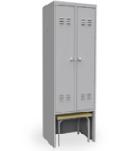 Шкаф для одежды двухсекционный со скамьей